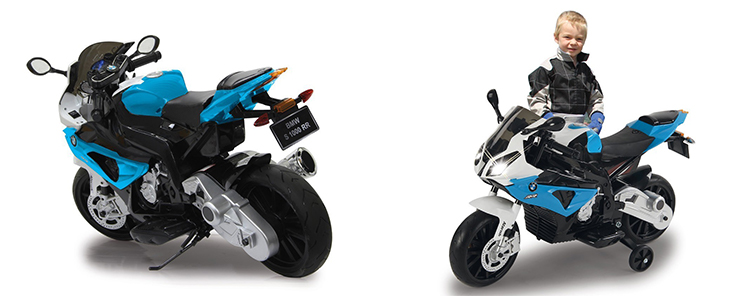 Kinder-Elektromotorrad von Jamara: Ride-On BMW S 1000 RR in Blau