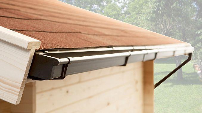 Dachrinne für Gartenhaus | Bild: Weka
