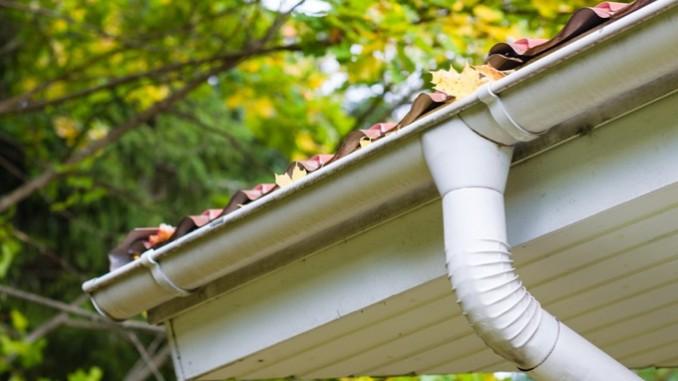 Dachrinnen für das Gartenhaus