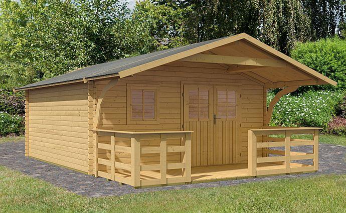 Gartenhaus Karibu mit Vordach weniger als 24 qm