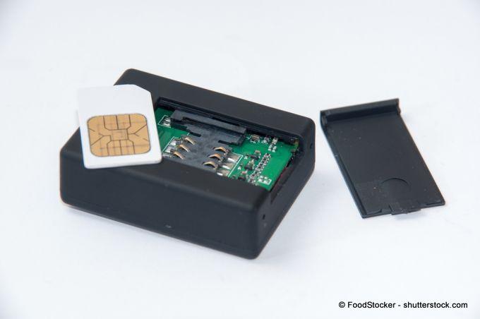 SIM-Karten-Slot bei einer Alarmanlage