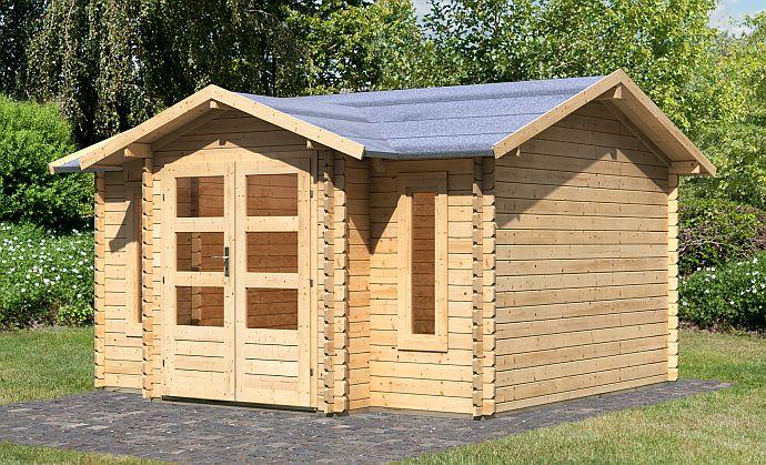 Wood Feeling Gartenhaus mt Dachüberstand