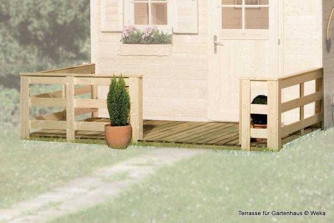 Terrasse für das Gartenhaus