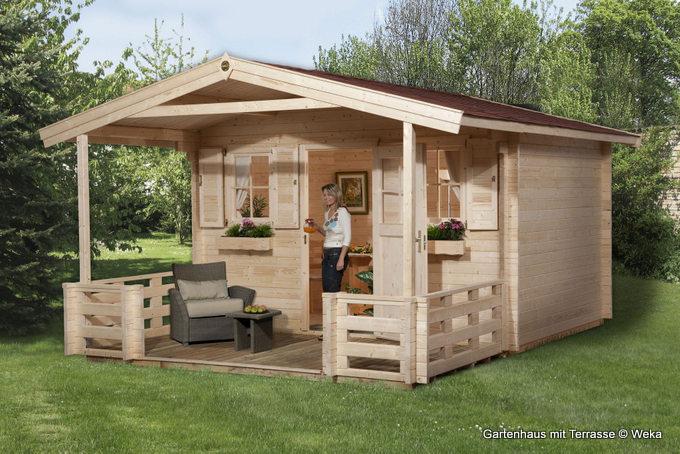 Gartenhaus und Terrasse: Bauweisen und Eigenschaften
