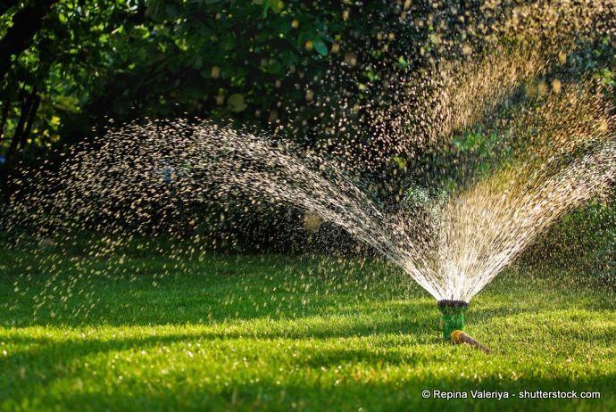 Viereckregner für den Garten
