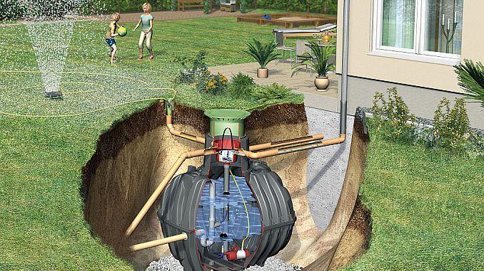 regenwassernutzung wasser sammeln f r die gartenbew sserung. Black Bedroom Furniture Sets. Home Design Ideas