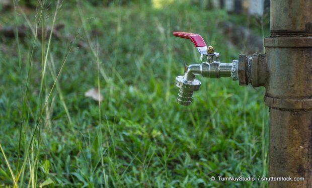 Leitungswasser im Garten