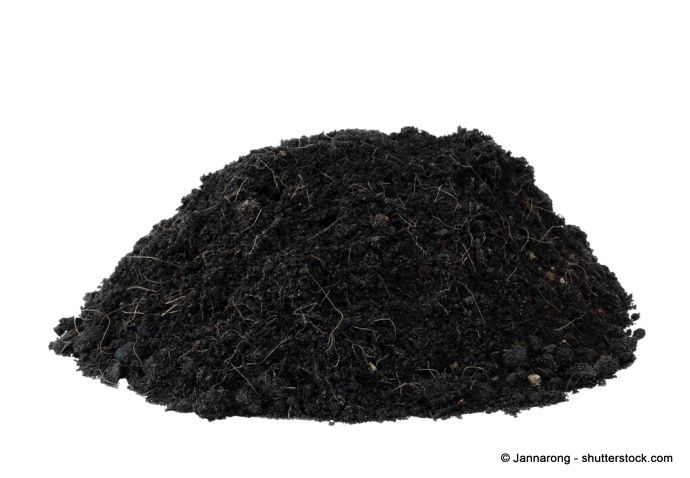 schwarzfarbener Torf