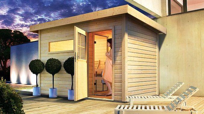 au ensauna sauna im garten. Black Bedroom Furniture Sets. Home Design Ideas