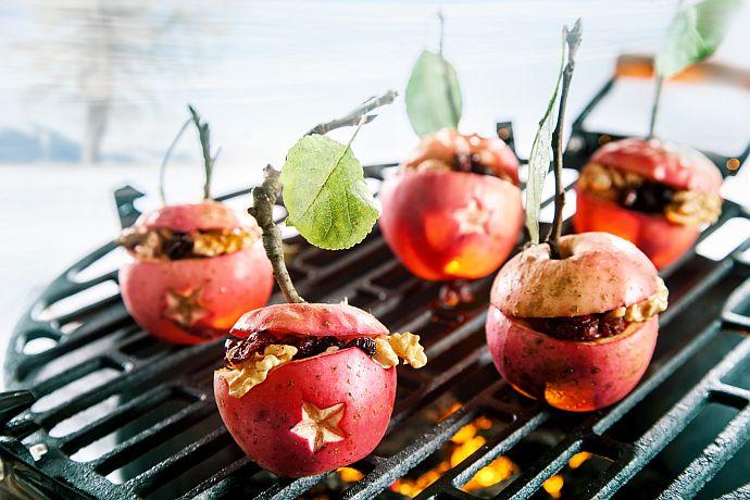 Wintergrillen mit Bratapfel