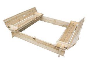Sandkasten von Habau: Deckel ist gleich Sitzbank