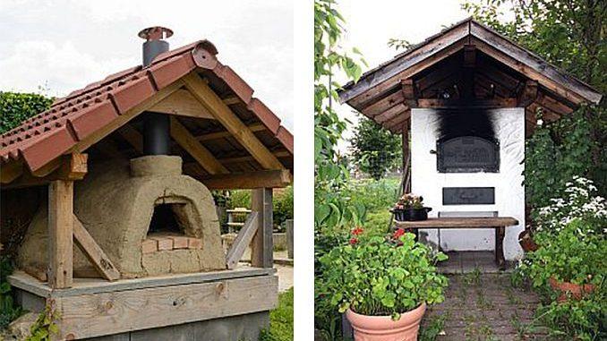 Holzbackofen/Steinbackofen mit Dach, Backhaus | Bilder: RRF/alho007 fotolia.com