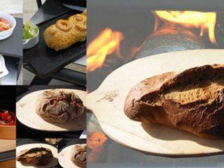 Brot und Speisen aus dem Holzbackofen