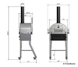 Holzbackofen Größe | Bild: Freiluftküche