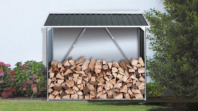 Holzunterstand aus Metall | Bild. Duramax