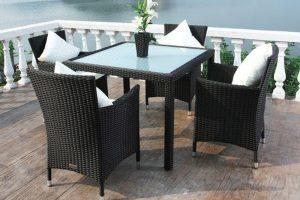 Gartenmöbel-Set aus Polyrattan | Bild: Outflexx