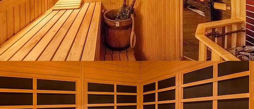 sauna und infrarotkabine. Black Bedroom Furniture Sets. Home Design Ideas