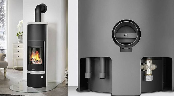 wasserf hrender kaminofen unterst tzung f r die heizung. Black Bedroom Furniture Sets. Home Design Ideas