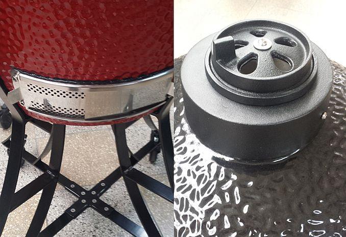 Belüftung Keramikgrill Kamado | Bild: Freiluftküche