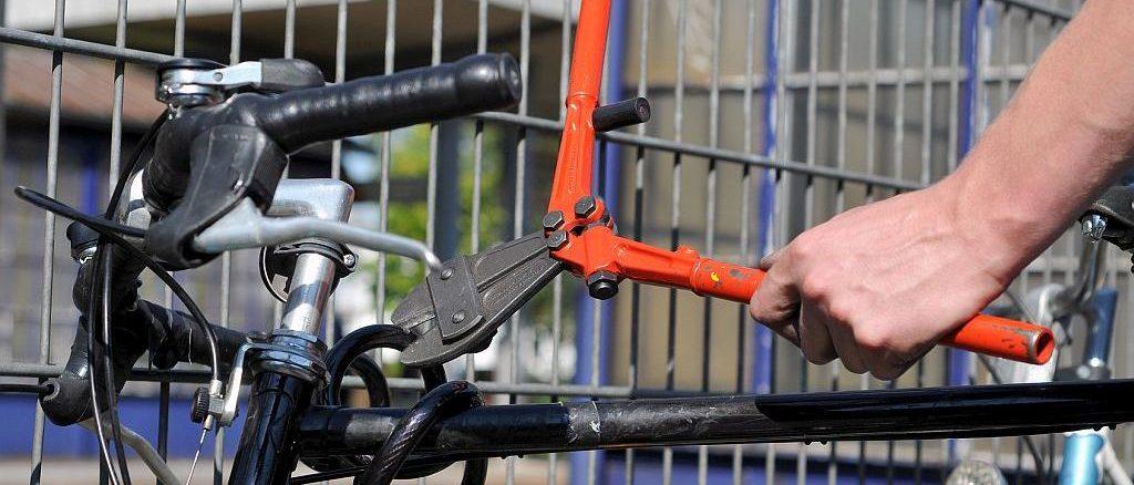 Fahrraddiebstahl mit Bolzenschneider