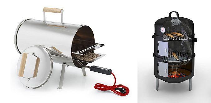 Räucheröfen: Heizstab (elektrisch) oder Brennkammer (Feuer) | Bilder: Barbecook