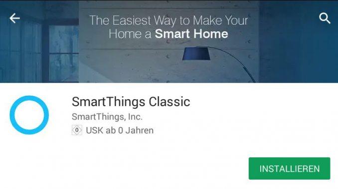 App zur Cloud für SmartThings von Samsung