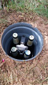 4 Flaschen sind im Biersafe erkennbar