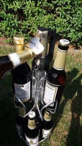 Flasche am Biersafe öffnen