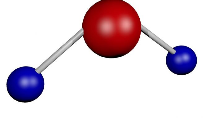 Wassermolekül (Modell) | Grafik: ColiN00B