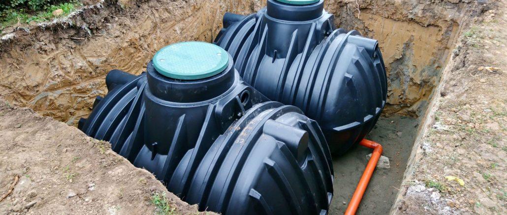 Regenwasser sammeln in Tanks - unterirdisch