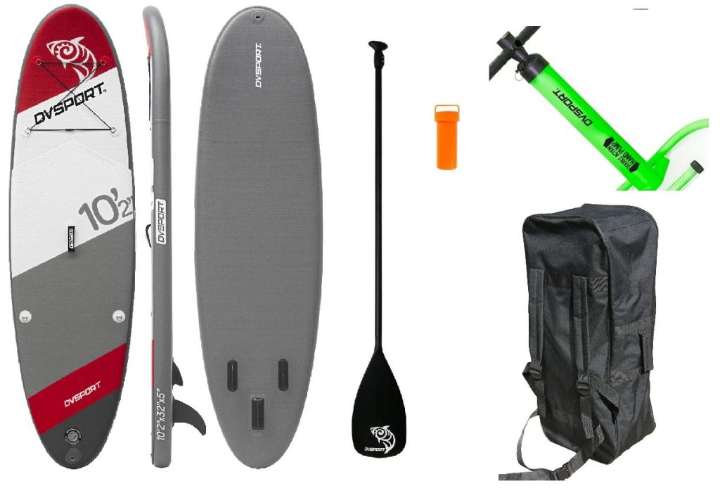 Stand-Up-Paddle-Set 10.2 von DVSport, Tragkraft: 170 kg