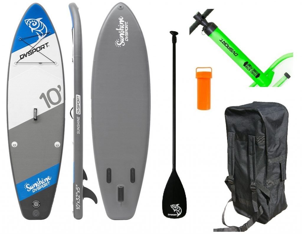 Stand-Up-Paddle-Set Sunshine von DVSport, Tragkraft: max. 120 kg