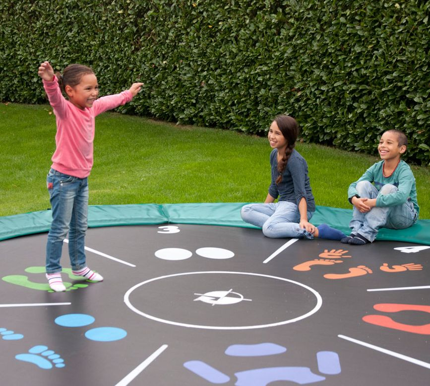 "Trampolin Elite Regular mit Sprungtuch ""Tattoo"" von Berg Toys"
