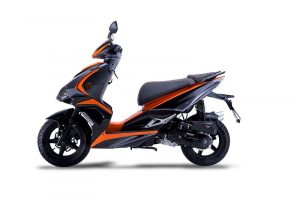Motorroller 50ccm Siegfried in Schwarz/Orange von ediMove